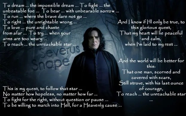 Snape Quotes Wallpaper Snape S Impossible Dream Severmore