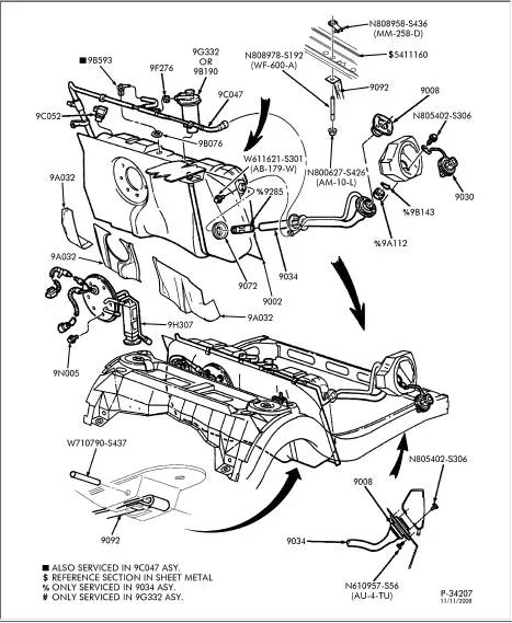 Service manual [2010 Lincoln Navigator Change Gas Tank