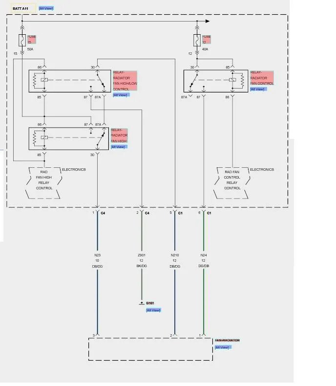automotive electric fan relay wiring diagram of a sarcomere and muscle cell location coolant dodge charger forums for low speed power from fuse 12 provides to the radiator control based on pcm operating parameters received over can c bus tipm