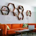 DIY honeycomb shelves Project