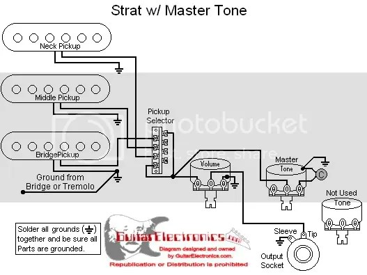 Strat With Master Tone Control Wiring Diagram Photo by