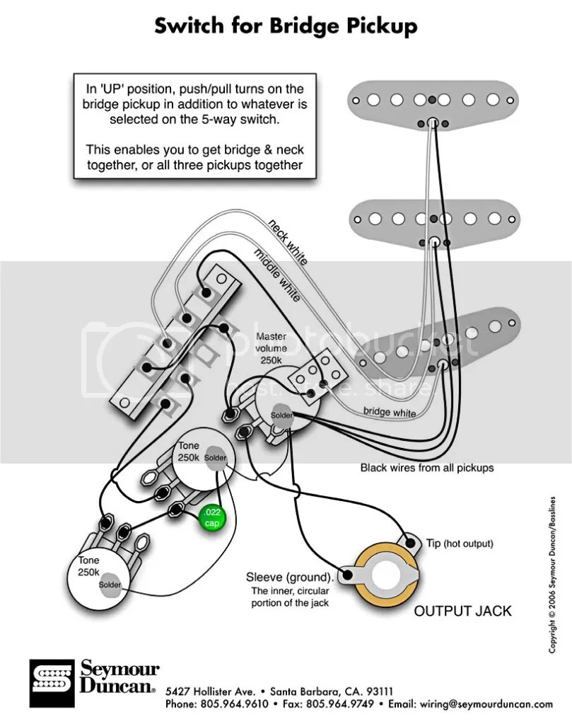 I need a wiring diagram for my guitar tech
