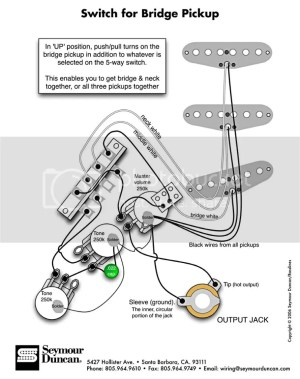 Strat With Switch For Bridge Pickup Wiring Diagram Photo