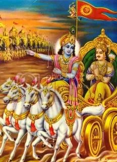 Krishna and Arjuna