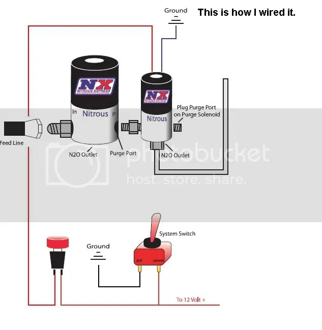 nitrous wiring diagram with purge ignition coil resistor solenoid great installation of question tampa racing rh tamparacing com