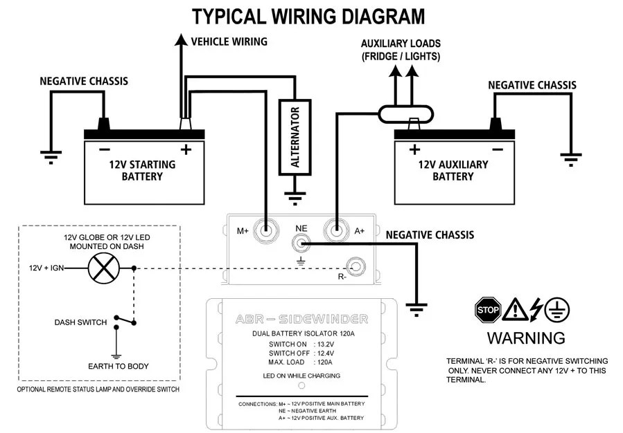 Dual Battery Isolator Wiring Diagram  Somurich