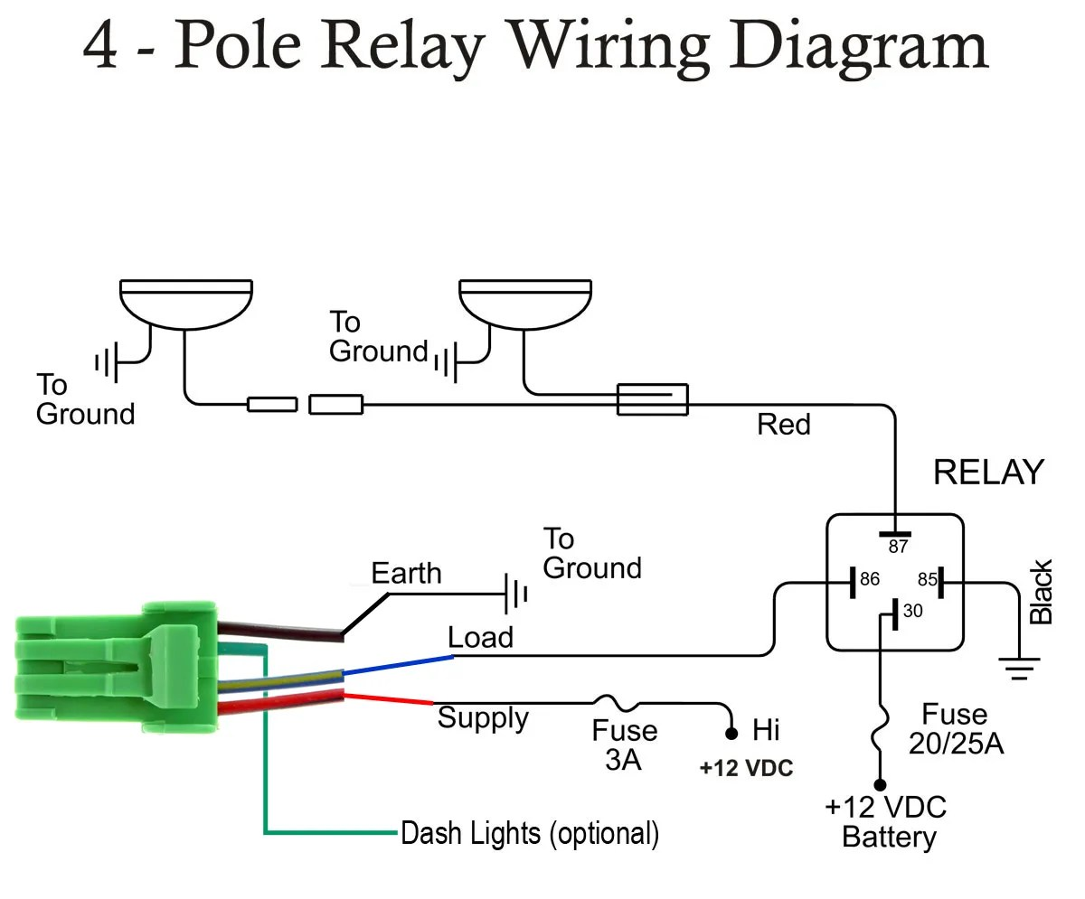hight resolution of switches and buttons 5 pole relay wiring diagram 4 pole solenoid wiring diagram
