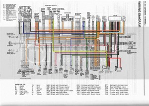bandit 400 wiring diagram in colour!