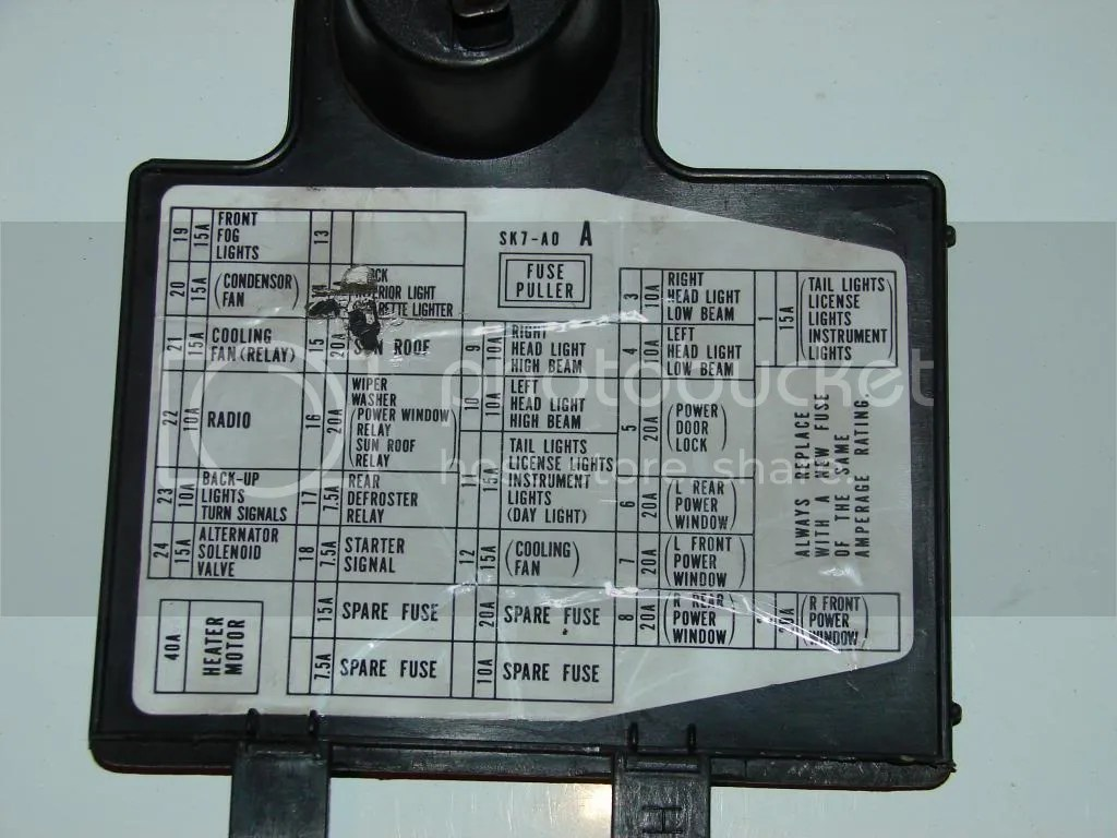 1996 Caddilac Catera Under Hood Fuse Box Diagram