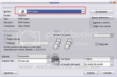 pdf creator screenshot3 PDF Creator Software Gratuito Para Crear Documentos PDF