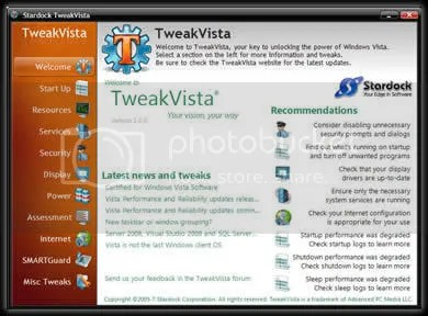 tweak Vista Optimizar Tu Windows Vista con TweakVista