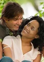 cute interracial couple