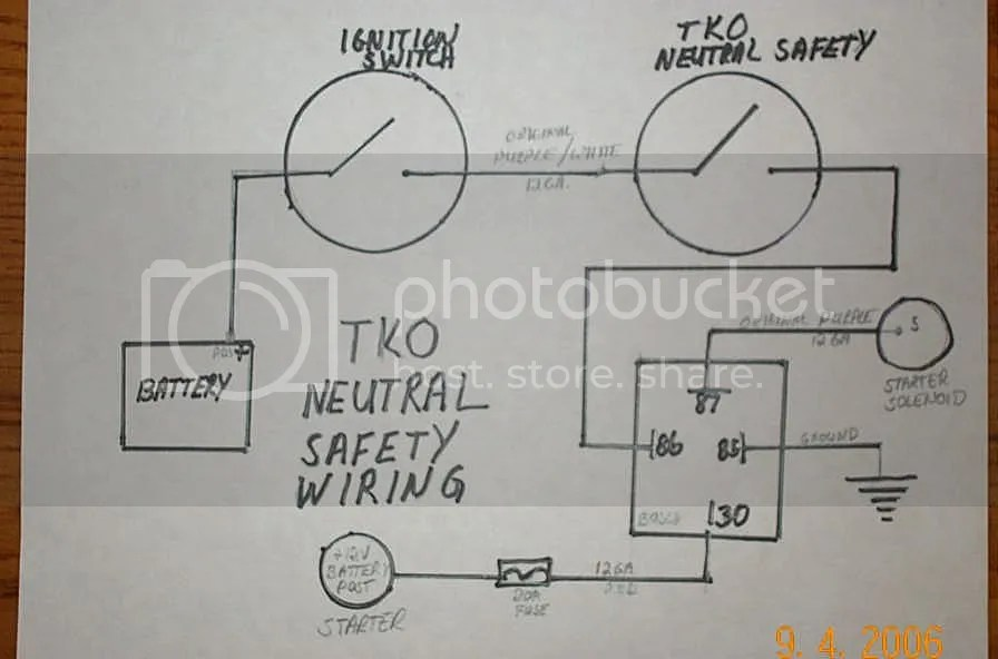 Help Wiring A Neutral Safety Switch