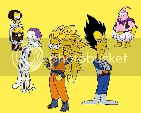 Los Simpsons versión Dragon Ball