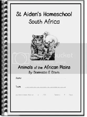 Animals of the African Savannah NoteBooking Pages