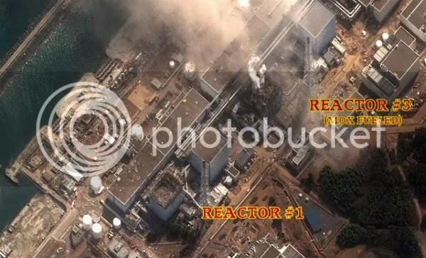 Reatores Nucleares de Fukushima após o terremoto de 11-03-11