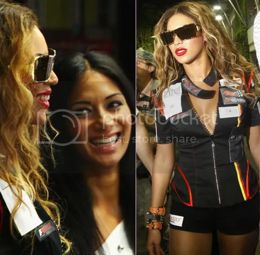 Beyonce & PCDs Nicole hang out at the Singapore Formula One Grand Prix //New Beyonce photoshoot...