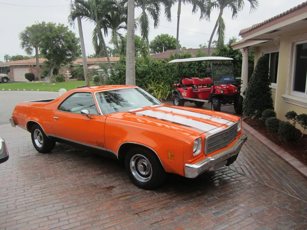 medium resolution of 1974 chevrolet el camino v8 350 a c new paint and interior muscle car no reserve on 2040 cars
