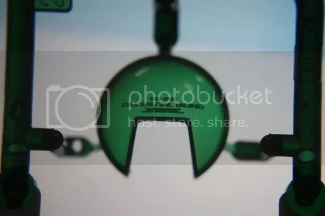 The clear green orb for the chest. The letterings are engraved onto the orb itself. Prettyy sweet~~