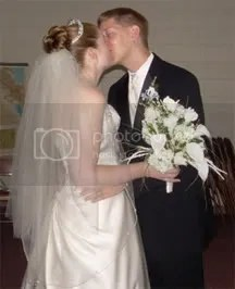 My husband and I, right after we were married.
