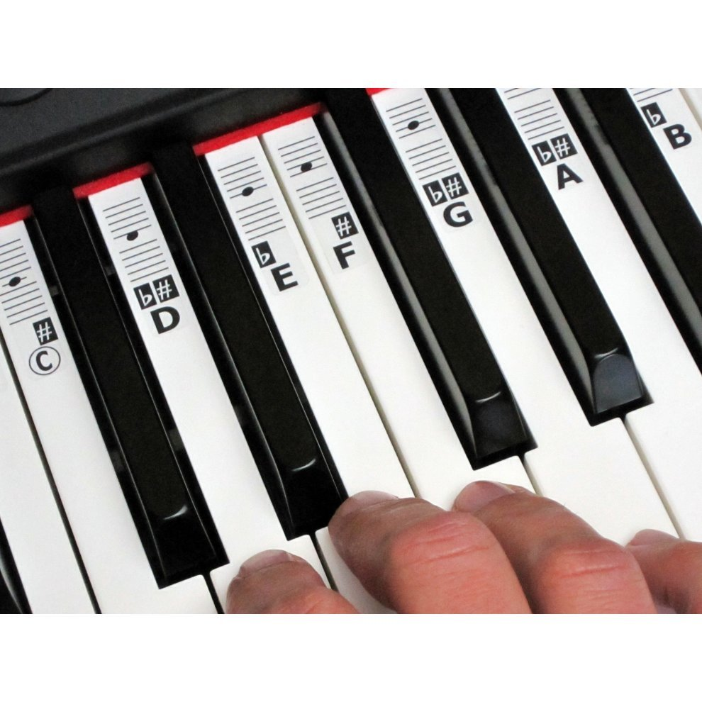 88 key piano keyboard diagram dsl jack wiring keynotes and music note stickers on onbuy
