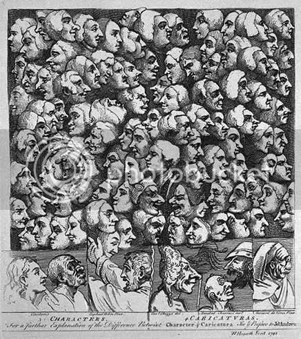 Hogarth, Caracteres, caricaturas, 1743