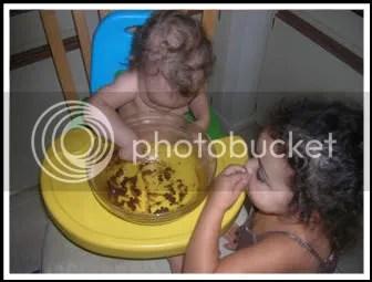 Vegan cookies mean we get to lick the bowl!