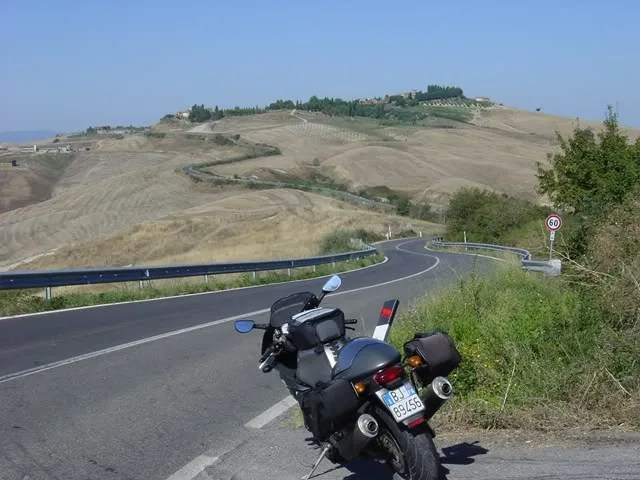 Southwest from Siena
