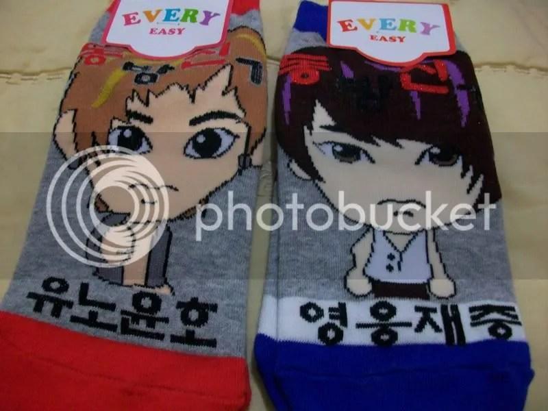 Yunho and Jaejoong socks