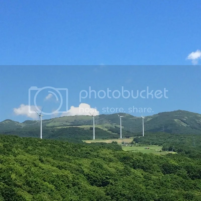 Lake toya to chitose windmills