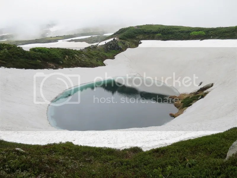 Asahidake snow lake