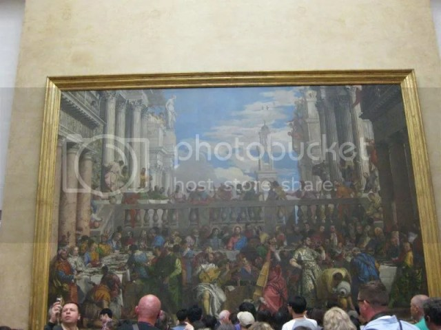 The Wedding at Cana is a massive painting by the late-Renaissance or Mannerist Italian painter, Paolo Veronese. (It was so crowded that I couldn't even take a picture without all the extra heads T_T )This painting is magnificent because there's a photo 197631_10151088165351209_940419731_n.jpg
