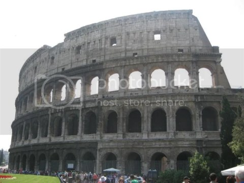 The Colosseum is probably the most impressive building of the Roman empire. Originally known as the Flavian Amphitheater, it was the largest building of the era.The elliptical building is immense, measuring 188m by 156m and reaching a height of mo photo 282327_10151099490961209_609965721_n.jpg
