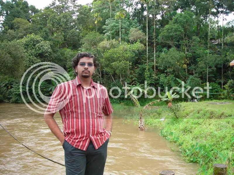 Deepak near the bungalow