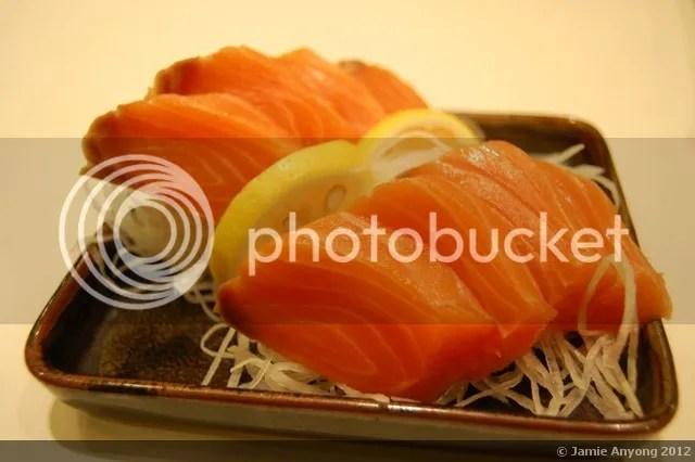 Okura_salmon sashimi
