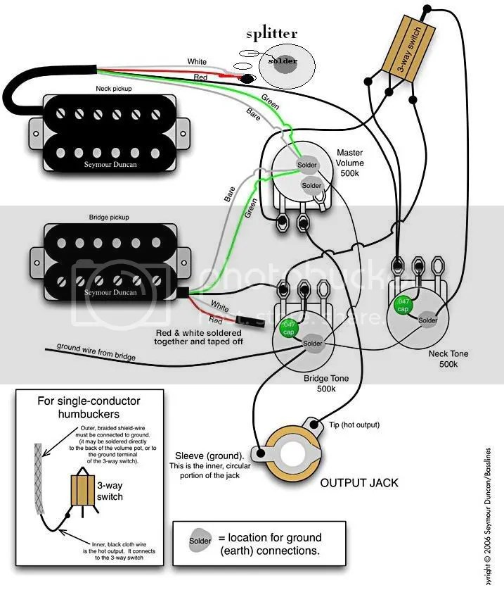 guitar wiring diagrams push pull pot
