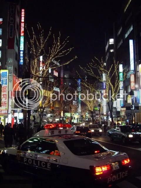 Shibuya Police at Night