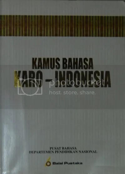 Kamus bahasa Karo-Indonesia