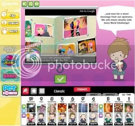 Screenshot AdSense for Games
