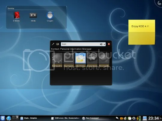 Screenshot Desktop KDE 4.1