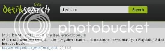 Hasil pertama DetikSearch untuk Dual boot