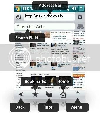 Screenshot Opera Mobile 9.5