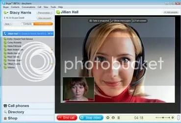Screenshot Skype 4.0 beta