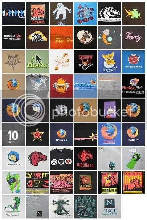 53 desain t-shirt Firefox