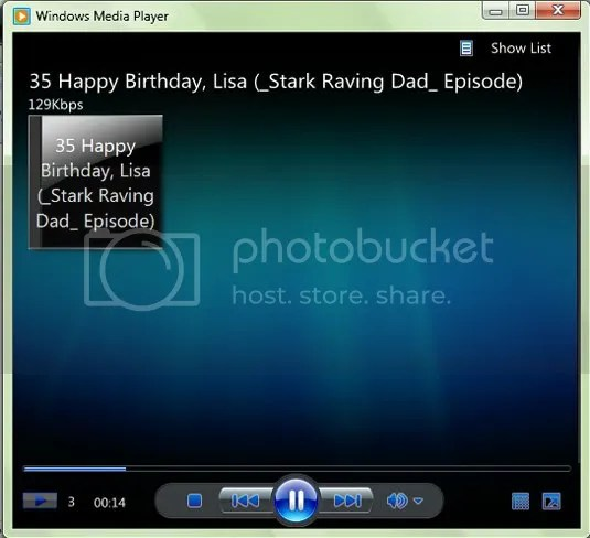 Windows Media Player dengan tampilan minimalis