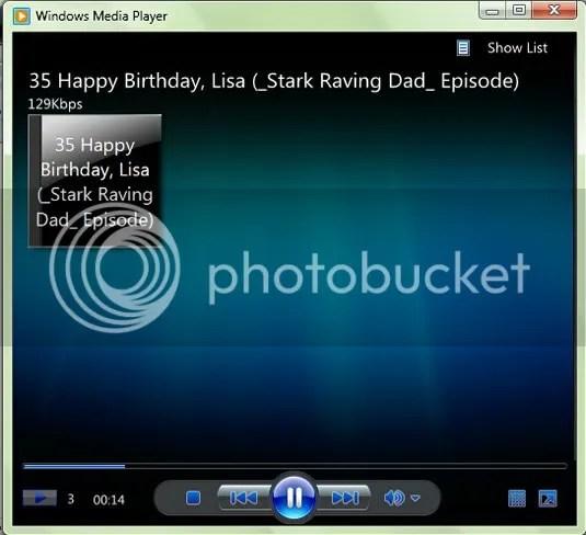 Windows Media Player dengan tampilan minimalis