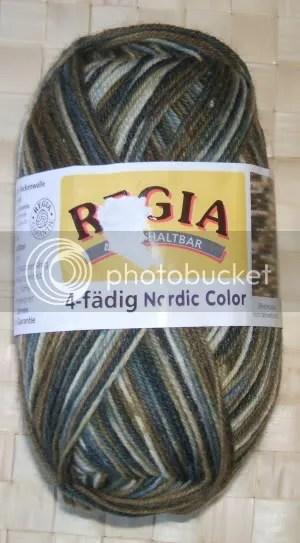 2 x 50 g regia 4-fädig nordic color - farbe 5516