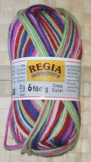 2 x 50 g regia 6-fädig crazy color - farbe 5265