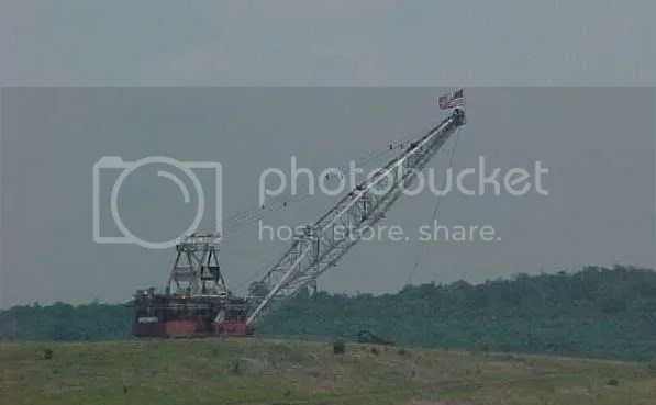 Drag line with flag