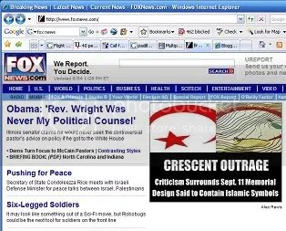 Fox News front page snapshot, 5-4-08, 45%